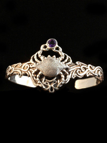 Cascade Crab Cuff Bracelet - Silver