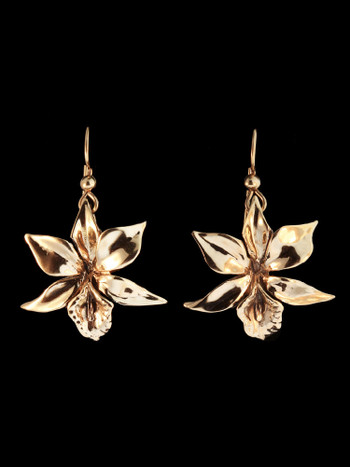 Orchid Earrings in 14K Gold