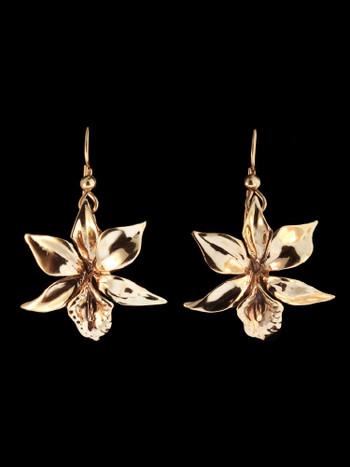 Orchid Earrings in 14K Gold