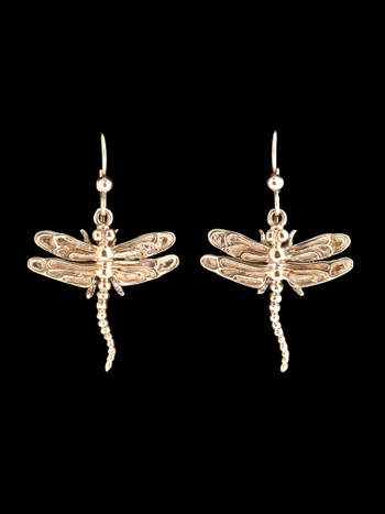 Dragon Fly Earrings in 14K Gold