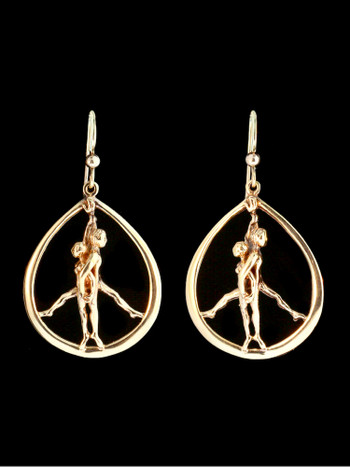 Stand for Peace Earrings in 14K
