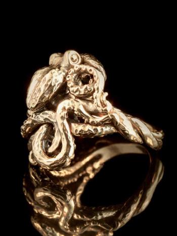 Octopus Ring in 14K Gold