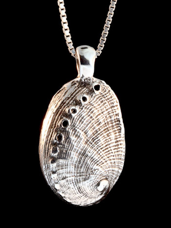 Life Casting Abalone Shell in Silver