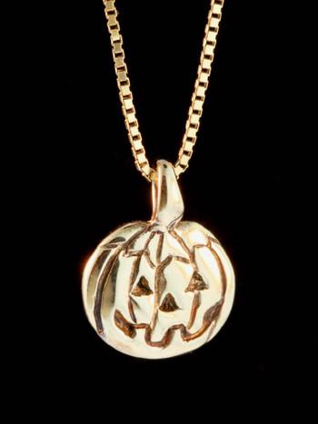 Jack O'Lantern Charm in 14K Gold