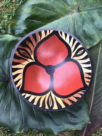 Zimbabwe Bowl - Three Petal Animal Stripe Design