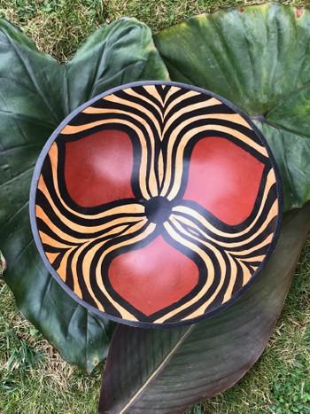 Zimbabwe Bowl - Three Petal and Flowing Animal Stripe Design