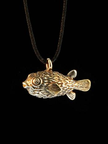 Puffer Fish Charm - Bronze