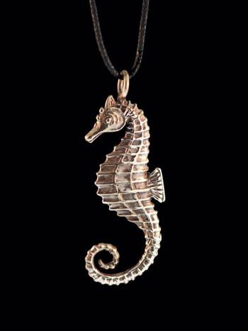 Seahorse Charm - Bronze