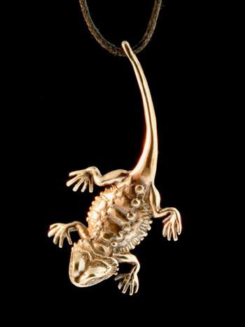 Bearded Lizard Charm - Bronze