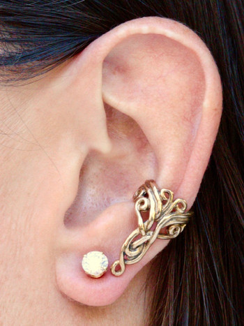 Arabesque Ear Cuff in 14K Gold