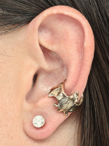 Bat Ear Cuff - 14K Gold