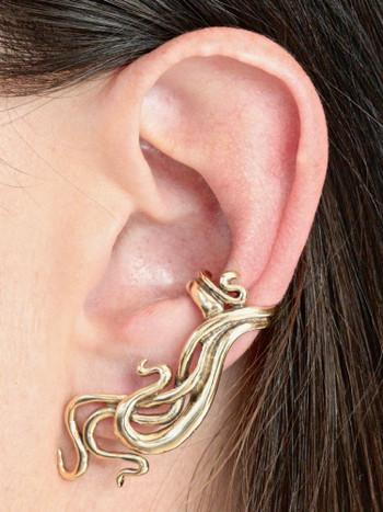 Wave Ear Cuff - 14K Gold