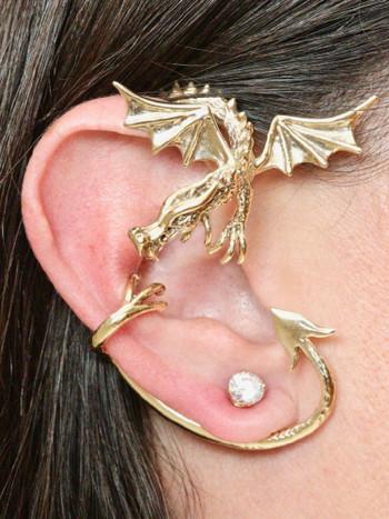 Guardian Dragon Ear Wrap - 14K Gold