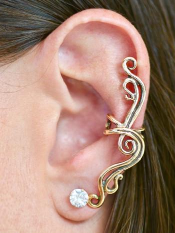 French Twist Ear Cuff - 14K Gold