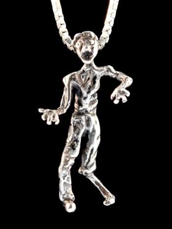 Zombie Pendant in Silver
