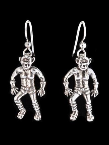 Cyclops Earrings in Silver