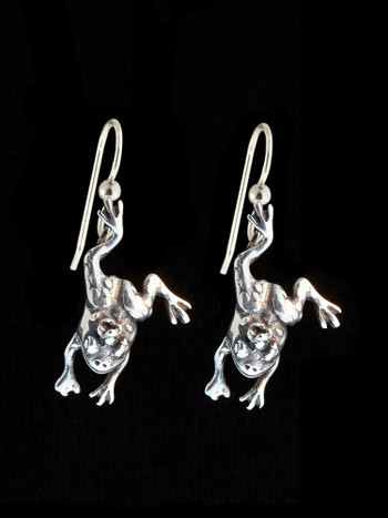Enchanted Frog Earrings - Silver