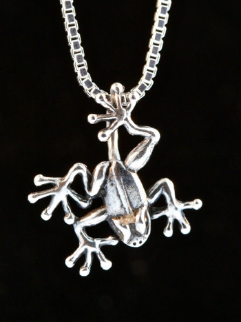 Jungle Jewel Tree Frog Charm in Silver