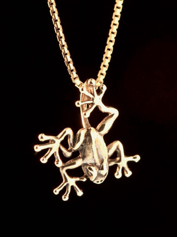 Jungle Jewel Tree Frog Charm in 14K Gold