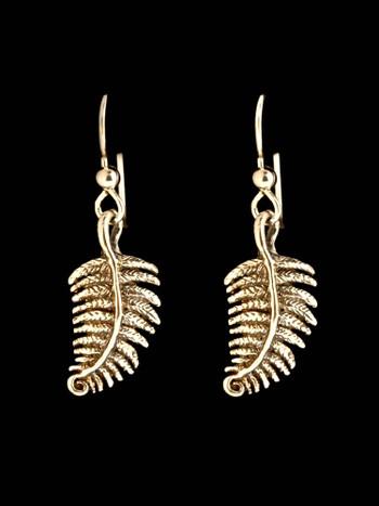 Jungle Jewel Fern Earrings in 14K Gold