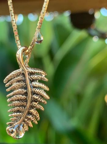 Jungle Jewel Fern Charm in 14K GoldJungle Jewel Fern Charm in 14K Gold