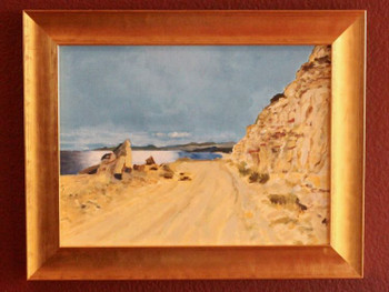 The East Cape Road a tPunta Gorda - Oil on wood panel