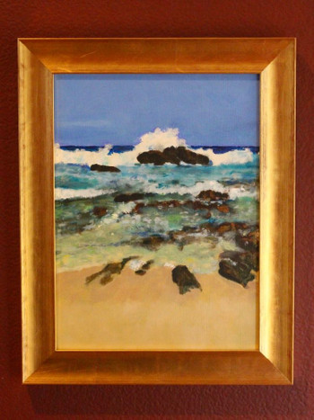 Zacatitos Rocky Shore - Oil on board