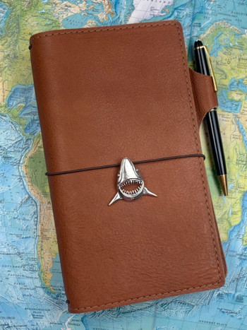 Shark Traveler Notebook Charm in Silver