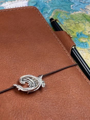 Rip Curl Wave Traveler's Notebook Charm in Silver