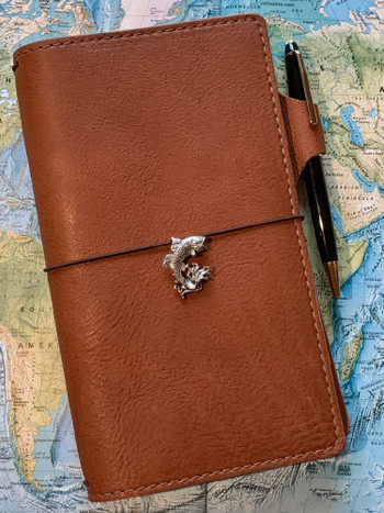Jumping Bass Travelers Notebook Charm in Silver