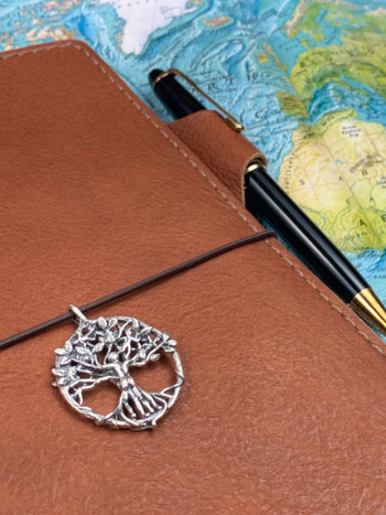 Circle of Life Travelers Notebook Charm in Silver