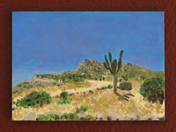 Cardon Cactus at Punta Gorda - Acrylic on Masonite