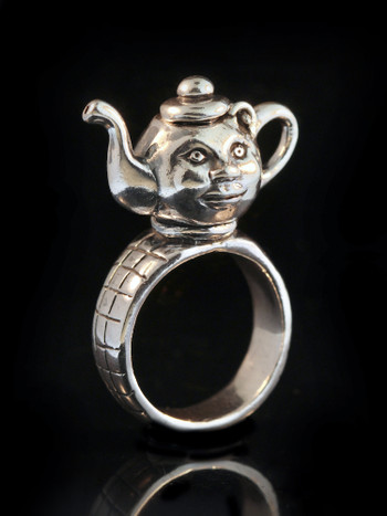 Teapot Ring in Silver