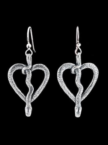 Love Python #9 Earrings - Silver