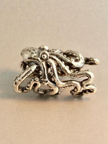 Octopus Ear Crest Cuff - Silver