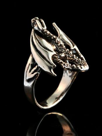 Glider Dragon Ring - Sterling Silver