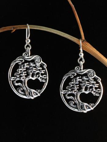 Cypress - Bonsai Tree Earrings - Sterling Silver