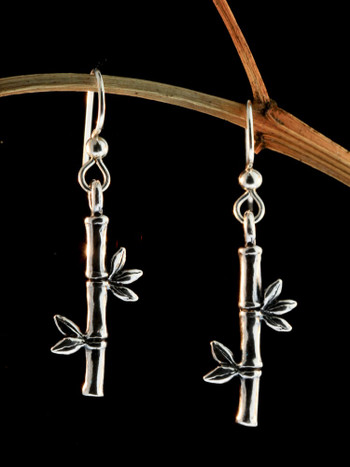 Bamboo Earrings - Sterling Silver