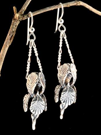 Iris Earrings - Silver