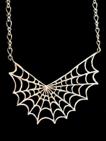 Spider Web Pendant with Split Figure Eight Chain