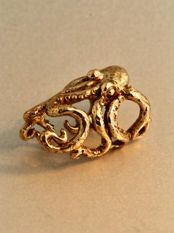 Octopus Ear Cuff Crest - Bronze