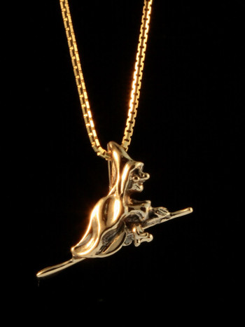 Witch Charm Necklace - 14k Gold