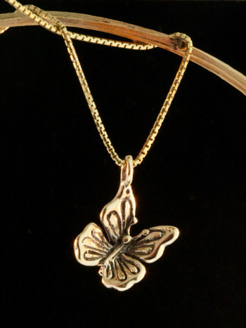 Metamorphosis - Butterfly Charm - 14k Gold
