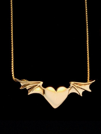 Winged Heart Necklace - 14k Gold