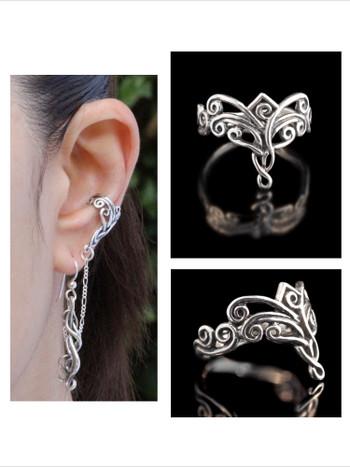 Arabesque Ear Cuff Bajoran and Arabesque Ring Set