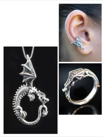 Dragon Jewelry Set Combo - Oracle Dragon - Flame Dragon - Dragon Chevron