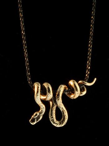 Vine Snake Pendant - Bronze