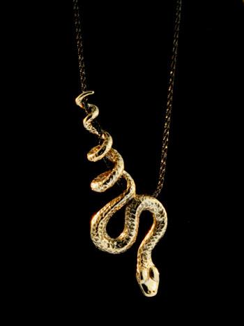 Python Snake Pendant - Bronze