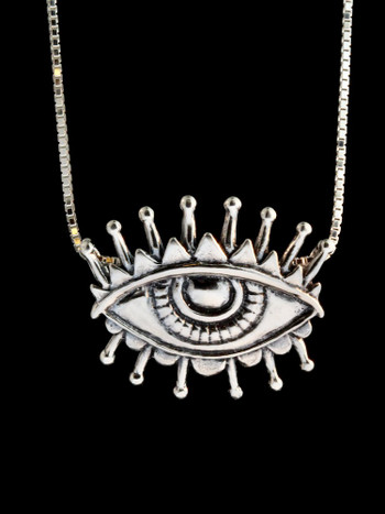 Evil Eye of Protection Pendant - Silver