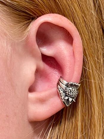 Thistle Ear Cuff - Silver